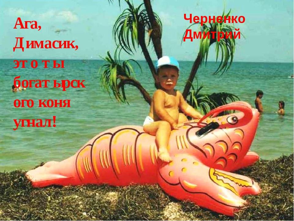 Ага, Димасик, это ты богатырского коня угнал! Черненко Дмитрий