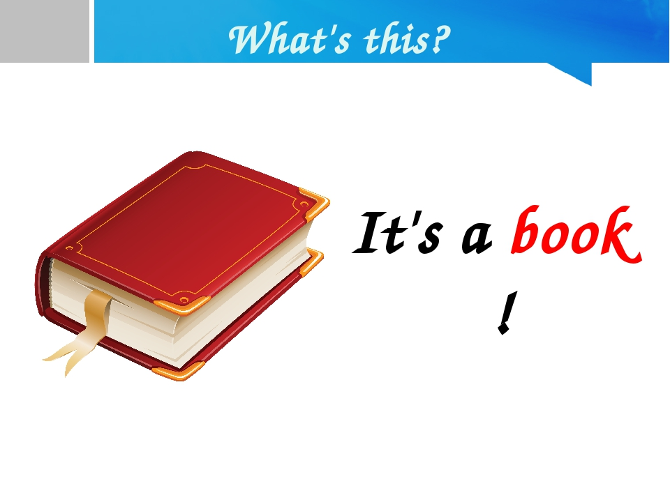 What's this? It's a book !