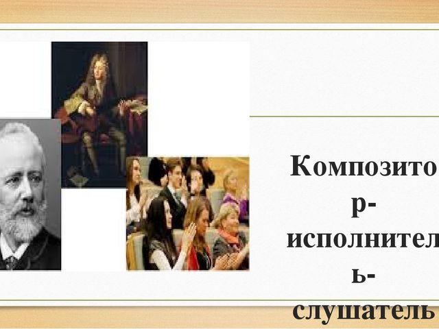 Композитор-исполнитель-слушатель Презентацию подготовила: учитель музыки МОУ...