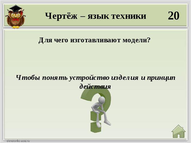 Чертёж – язык техники 20 Чтобы понять устройство изделия и принцип действия Д...