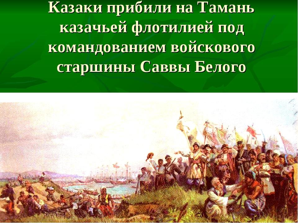 Казаки прибили на Тамань казачьей флотилией под командованием войскового стар...