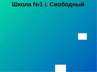 Школа №1 г. Свободный