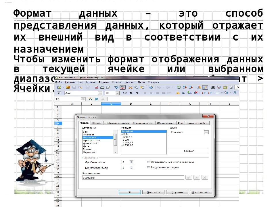 Формат данных – это способ представления данных, который отражает их внешний...