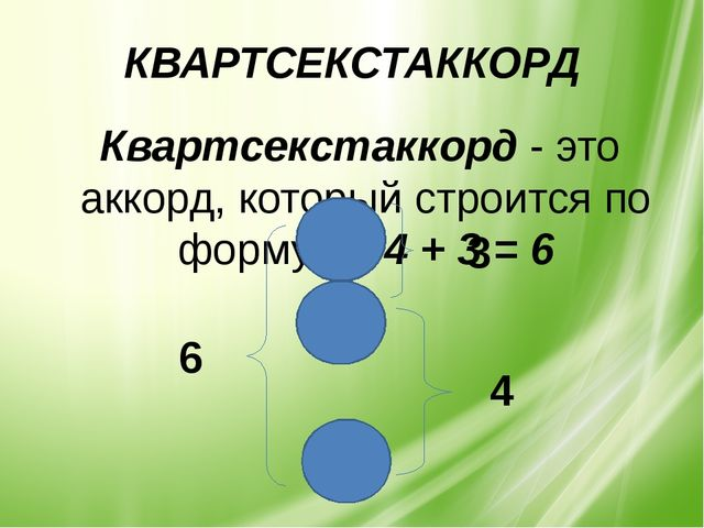 КВАРТСЕКСТАККОРД Квартсекстаккорд - это аккорд, который строится по формуле:...