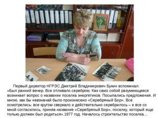 Первый директор НГРЭС Дмитрий Владимирович Букин вспоминал: «Был ранний вече