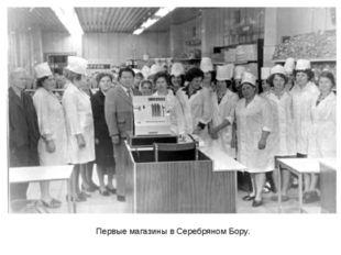 Первые магазины в Серебряном Бору.