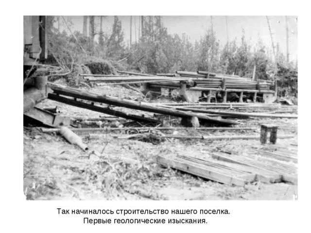 Так начиналось строительство нашего поселка. Первые геологические изыскания.