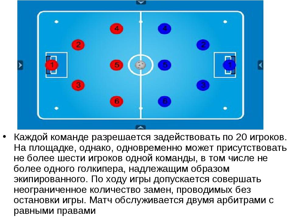 Каждой команде разрешается задействовать по 20 игроков. На площадке, однако,...
