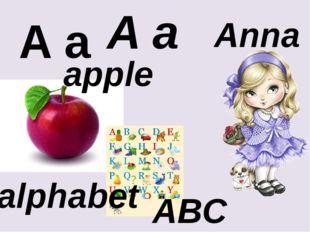 A a A a apple alphabet Anna ABC