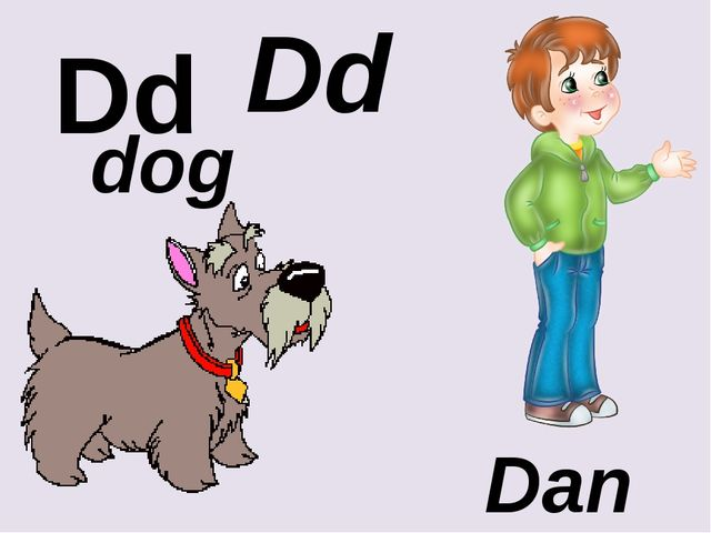 Dd Dd dog Dan
