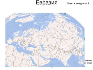 Евразия Субэкваториальный Субтропический пояс Тропический пояс Жаркое и влажн