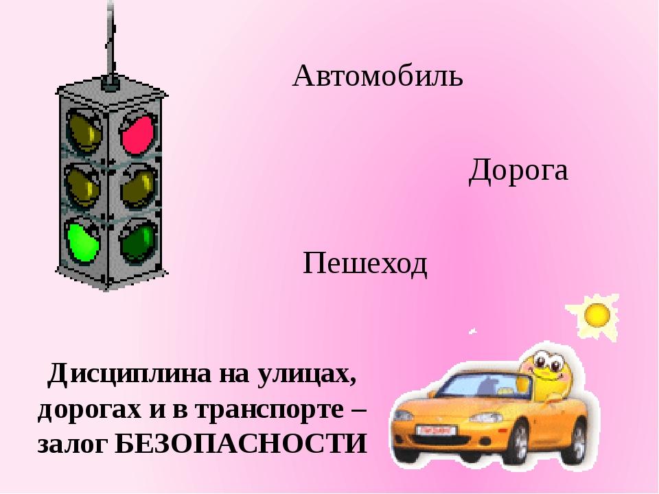 Автомобиль Дорога Пешеход Дисциплина на улицах, дорогах и в транспорте – зал...
