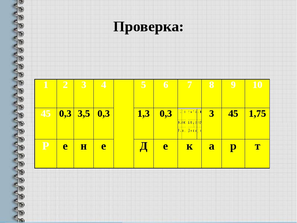 Проверка: 1 2 3 4  5 6 7 8 9 10  45 0,3 3,5 0,3 1,3 0,3 3 45 1,75 Р е н е Д...