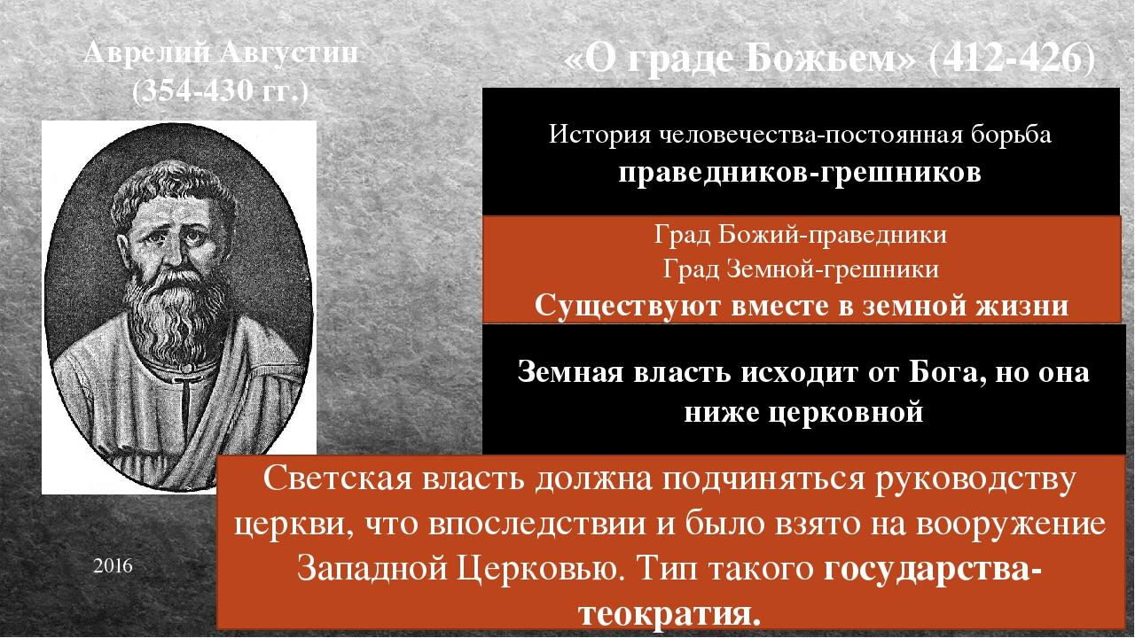 Идеал теократии Центр-Рим «вечный город». Почитался городом апостола Петра, х...