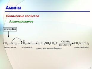 * Амины Химические свойства Алкилирование