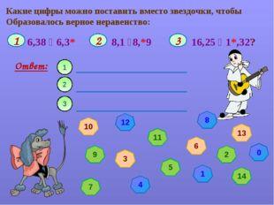 Какие цифры можно поставить вместо звездочки, чтобы Образовалось верное нерав