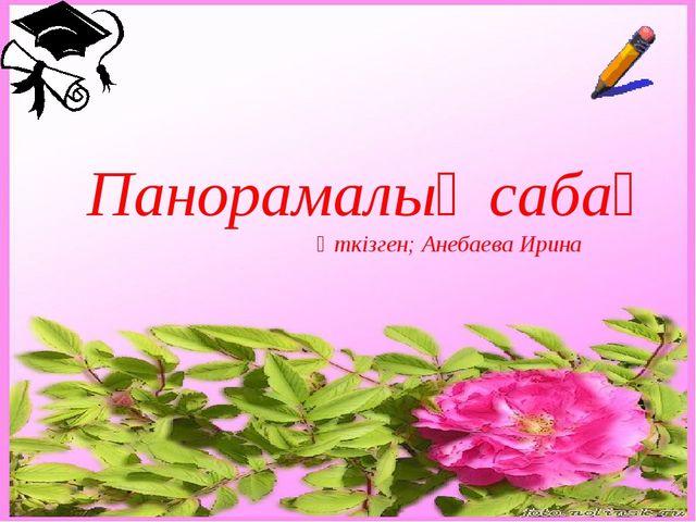Панорамалық сабақ Өткізген; Анебаева Ирина