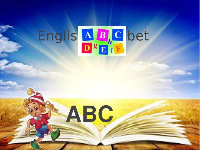 English alphabet ABC