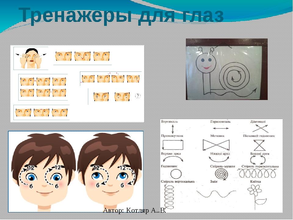 Тренажеры для глаз Автор: Котляр А..В.