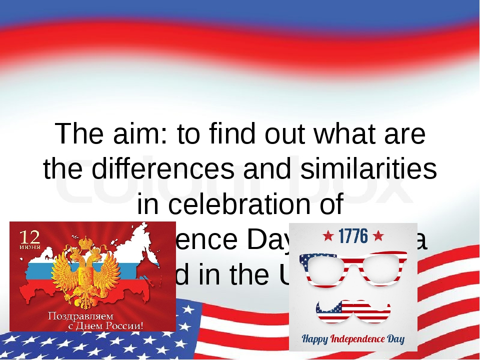 The aim: to find out what are the differences and similarities in celebration...