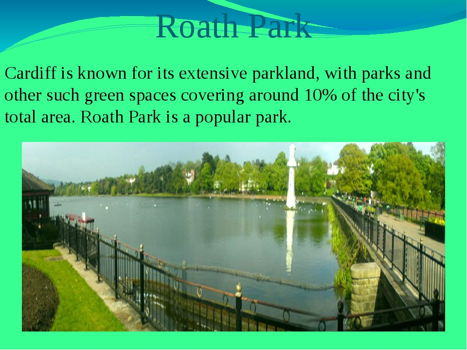 Roath Park Cardiff is known for its extensive parkland, with parks and other...
