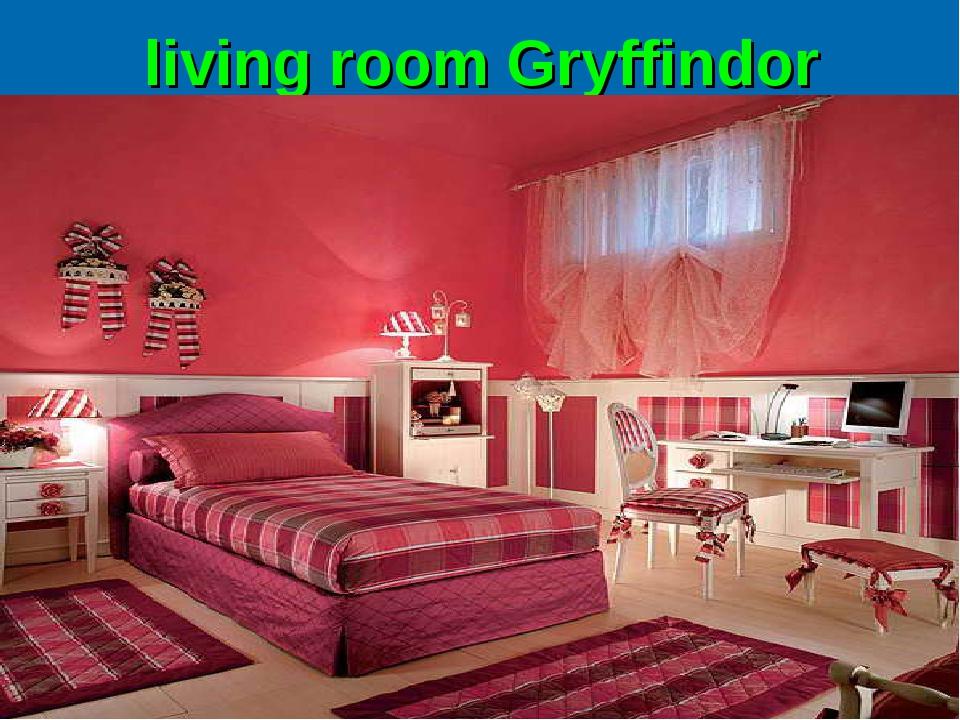 living room Gryffindor