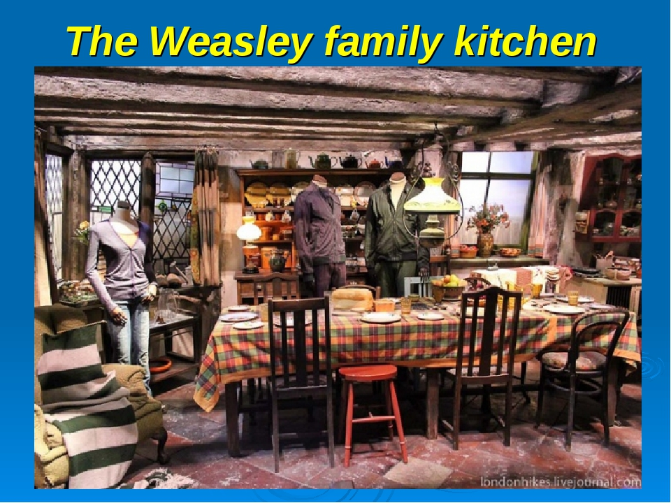 The Weasley family kitchen